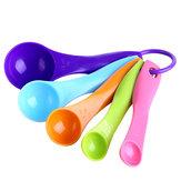 5pcs as colheres de medir coloridas estabelecem a nata de utensílios de instrumento de cozinha que cozinha cozedura de instrumento