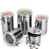 Durable Stainless Steel Canister Airtight Sealed Canister Spice Dry Storage Container Snack Cans