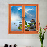 3D Artificial Window View 3D Wall Decals Removable Seascape Stickers Home Wall Decor Gift