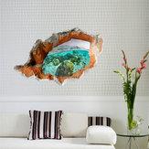 3D Under Water World Duvar Çıkartmaları Çıkartılabilir Manzara Duvar Çıkartmaları Home Duvar Dekoru