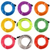 5M Single Color 5V USB Flexible Neon EL Wire Light Dance Party Decor Light