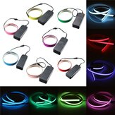1M Electroluminescent Tape EL Wire Glowing LED Rope Flat Strip Light with AA Battery Box 3V