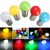 E27 3W PE Frosted LED Globe Colorful White Red Green Blue Yellow Lamp AC110-240V
