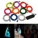 4M 10 colori 3V Flessibile Neon EL Wire Light Dance Party Decor Light