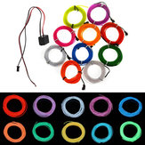 3M Flexibele Neon EL Wire 10 kleuren 12V Light Dance Party Decor Light