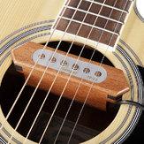Flanger transdutor de captação fp-som de 2 buracos de madeira para guitarra acústica