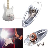 Chrome Gitarre Output Loaded Eingangsbuchse Plate Replacement Für Fender Strat