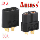 Amass XT60 Bullet Connector Plugs for RC البطارية Motor Black 10 Pairs