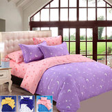 Honana 4 stks Beddengoed Kussen Suit Polyester Fiber Star Moon Reactief Gedrukt Beddengoed Sets