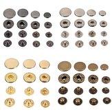 15 piezas de broches de presión Popper Press Stud botón de cuero de costura