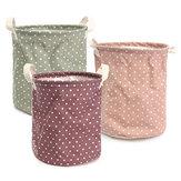 23 * 26 centímetros de algodão roupas de armazenamento de roupas de cesto de roupa suja dificultar saco de material diário