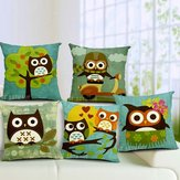 Cartoon Sowa Print Pillow Case Home Office Poduszka samochodowa
