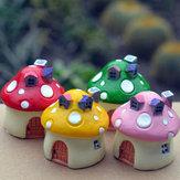 Mini Reçine Mantar Ev Mikro Manzara DIY Süslemeler