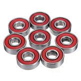 10 cái Red Seals Deep Groove skateboard Ball Ball 608 2RS 8x22x7mm