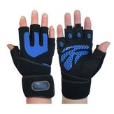 Gym Training Wrist Wrap Glove Weight Lifting Sport Mesh Gloves