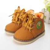 Crianças bebê martin botas de inverno sapatos de neve de algodão
