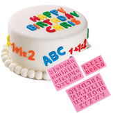 Honana 3Pcs Letters & Numbers Fondant Cake Molds Soap Chocolate Mold