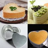 Aluminiumlegering Liefde Hartvormig Cake Pan Biscuit Baking Mould 3 Maten