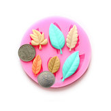 DIY Leaves Chocolate Mold Resin Flower Fondant Cake Decorating Mold