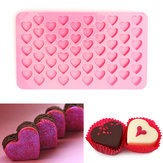55 Holes Mini Heart Silicone Cake Muffin Chocolade Mould