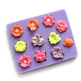 3D Flower Cake Mould Silicone 11 Holes Fondant Mould