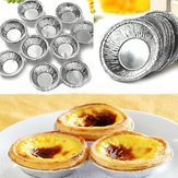 125Pcs Wegwerp Ronde Zilveren Folie Baking Cookie Cups Cake Tart Mold
