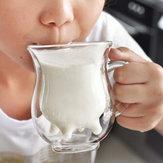 Креативные чашки двойного стекла для микроволновки жары чашки молока
