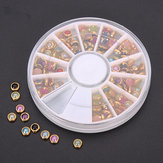 Colorful Pearl Nail Art Decoration Round Wheel