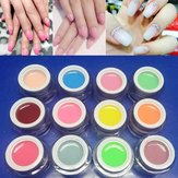 12 kleuren Nail Art Jelly Extreme UV Gel Varnish Extension Builder Manicure Lijm