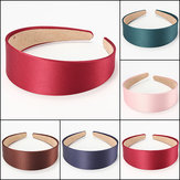 4CM Large Lady Satin Headwear Coiffes de cheveux Headbrand