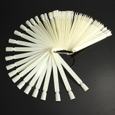 50pcs False Nail Art Tips Polish Display Fan Practice DIY