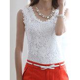Floral Crochet Spitze Tank Tops
