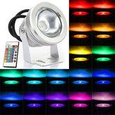 10w cor RGB mudando impermeável controle remoto LED luz de inundação
