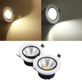 7W Dimmable COB LED Recessed Ceiling Light Fixture Down Light Kit