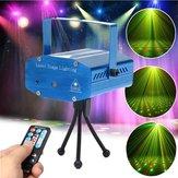 Mini- r & g auto / controle de voz LED do estágio do laser projector de luz com controle remoto para natal partido KTV disco