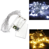 AA Batteri Mini 20 LEDs Cool / Warm White Christmas String Fairy Lights