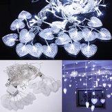 2m blancos 16 corazones 104 LED cadena holiday luces de hadas para navidad partido