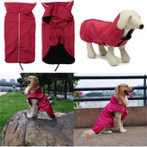 Waterdichte Winter Pet Puppy Lined Reflective Piping Coat Jacket