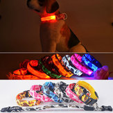M Hund LED Halsband Nylon-Sicherheitslicht-up Flashing Collar