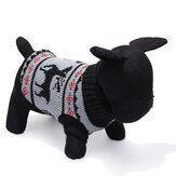 Cerfs chien chandail tricoté respirant vêtements de vêtements d'extérieur