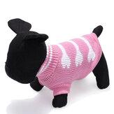 Tres de hueso de perro tipo de cuello alto mascota de punto transpirable outwear suéter
