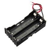 DIY DC 7.4V 2 slot dobbelt serie 18650 batteriholder Batteriboks med 2 kabler ROHS-certificering