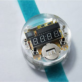 DIY LED Digital Watch Electronic Clock Kit With Transparent Cover