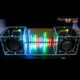 Met Behuizing DIY Muziek Spectrum LED Flash Kit + DIY Versterker Speaker Kit