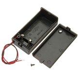 2pcs 9v titular caixa da bateria com chave liga / desliga poder alternar
