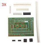 3pcs componentes SMD DIY solda prática kit placa para treinamento