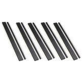 5 Pair 40 Pin 2.54mm Male Female SIL Socket Row Strip PCB Connector