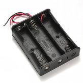 Zwart Plastic Batterij Opbergdoos Dooshouder Voor 3x18650 11.1V