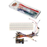 MB 102 Breadboard + Power Supply + 140pcs Jumper Cable Dupont Wire Kits