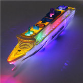 Ocean liniowej statek wycieczkowy Boat Electric Toys Flash LED Lights Sounds Kids Christmas Gift